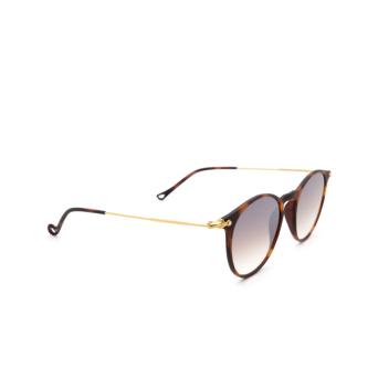 Eyepetizer® Round Sunglasses: Springs color Havana C.G-4-18F.