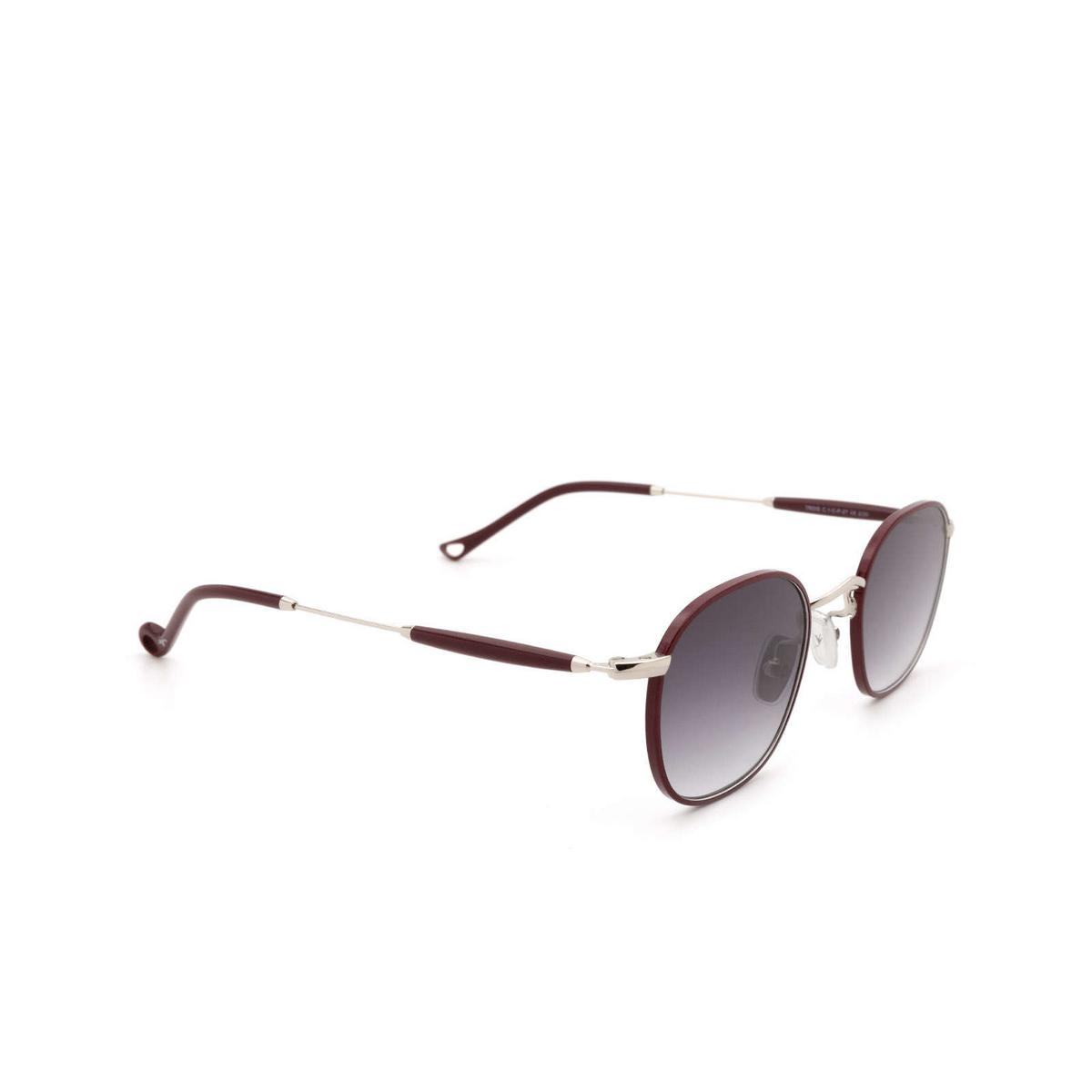 Eyepetizer® Square Sunglasses: Trois color Bordeaux C.1-C-P-27 - three-quarters view.