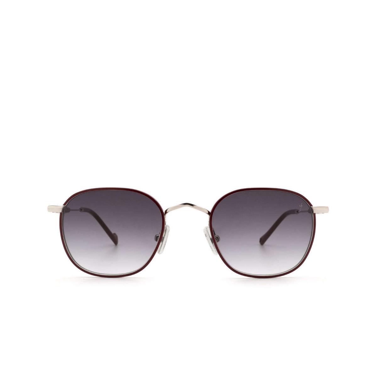 Eyepetizer® Square Sunglasses: Trois color Bordeaux C.1-C-P-27 - front view.