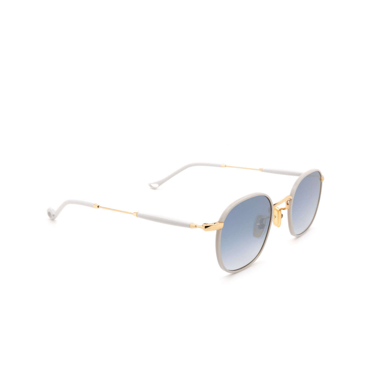 Eyepetizer® Square Sunglasses: Trois color Ice Grey C.4-D-S-26F - three-quarters view.