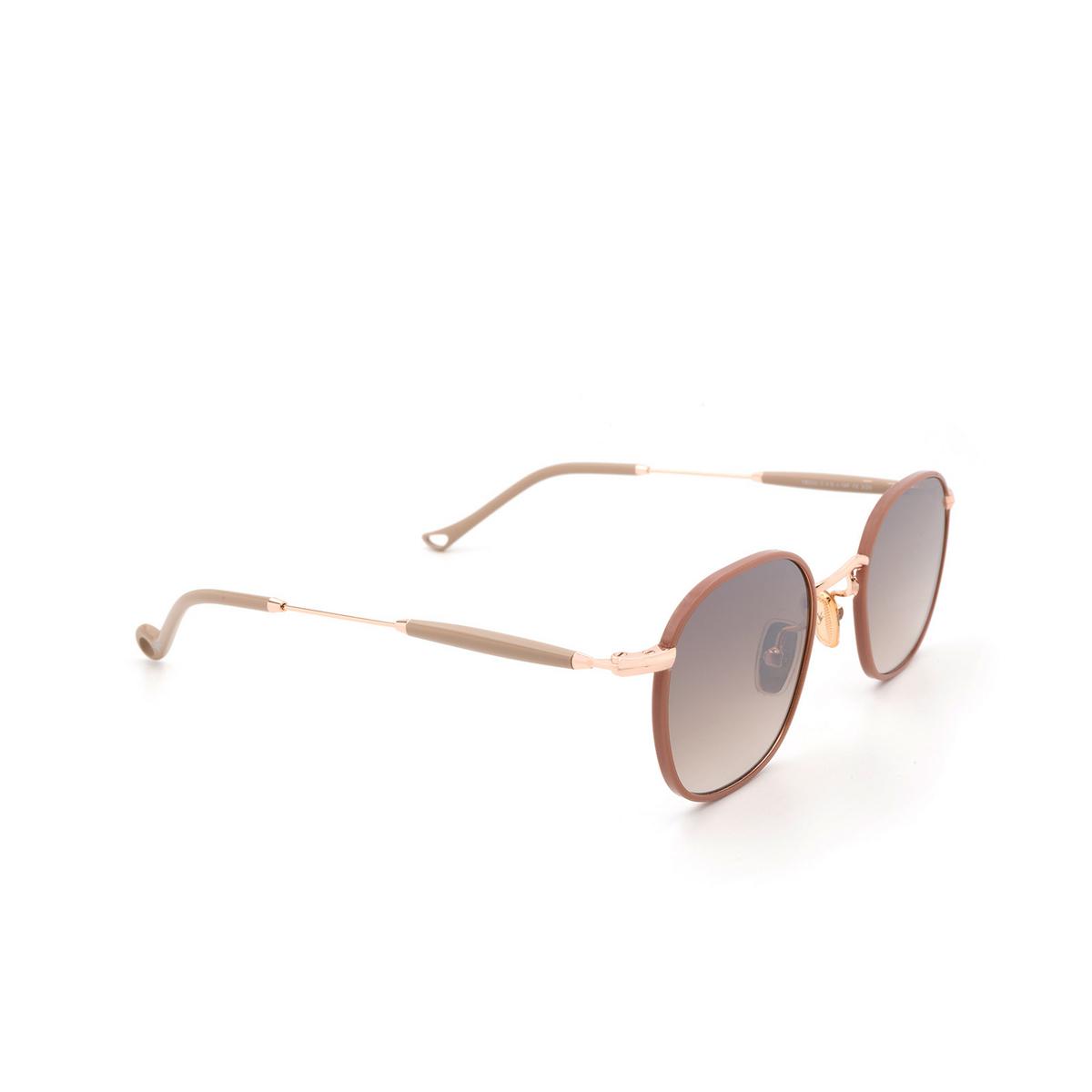 Eyepetizer® Square Sunglasses: Trois color Pink C.9-E-J-18F - three-quarters view.