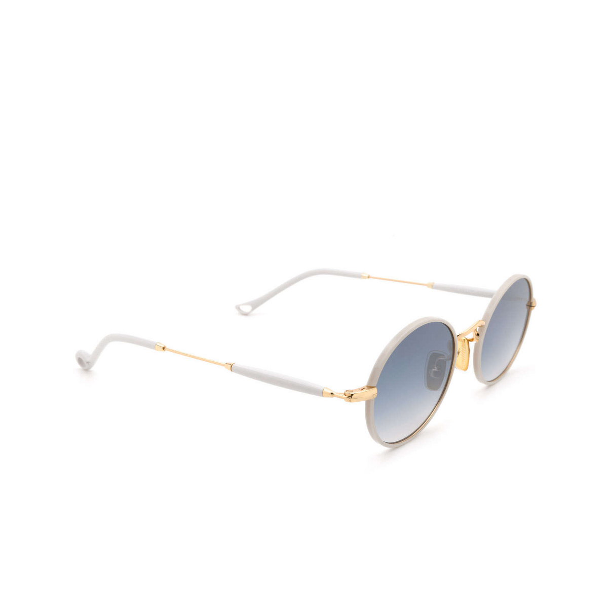 Eyepetizer® Round Sunglasses: Un color Ice Grey C.4-D-S-26F - three-quarters view.
