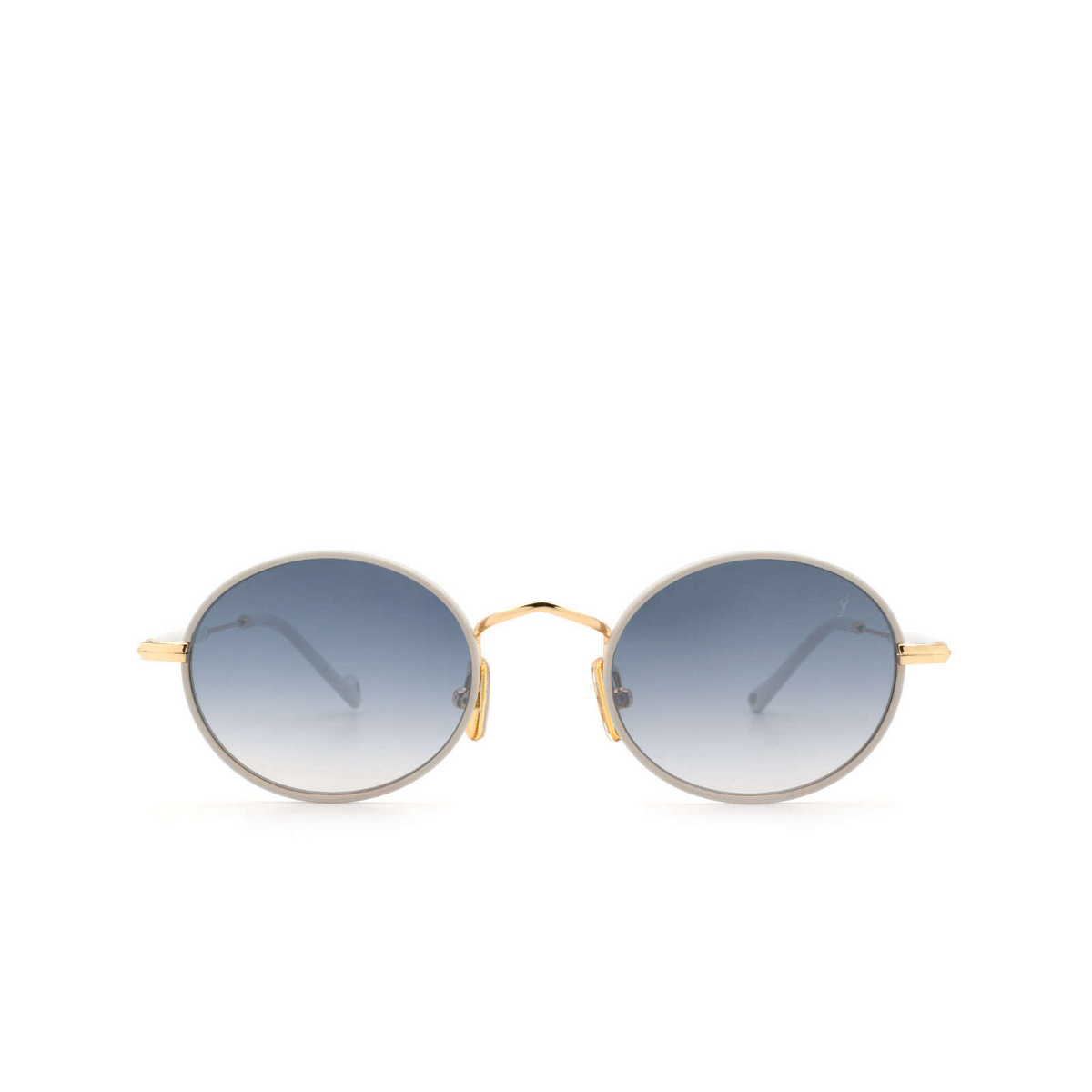 Eyepetizer® Round Sunglasses: Un color Ice Grey C.4-D-S-26F - front view.