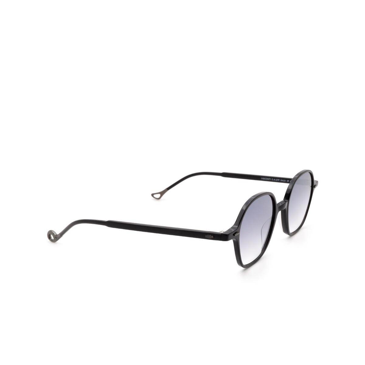 Eyepetizer® Irregular Sunglasses: Visconti color Black C.A-27F - three-quarters view.