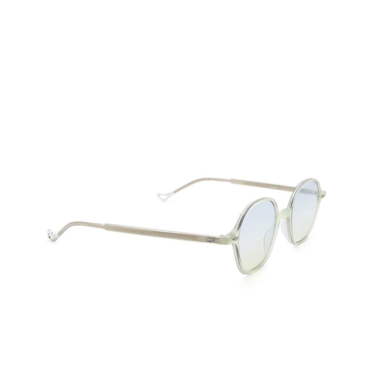 Eyepetizer® Irregular Sunglasses: Visconti color Green Aquamarine C.A/A-23F.