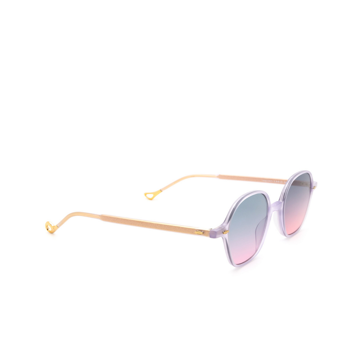 Eyepetizer® Irregular Sunglasses: Visconti color Lilac C.B/B-20 - three-quarters view.