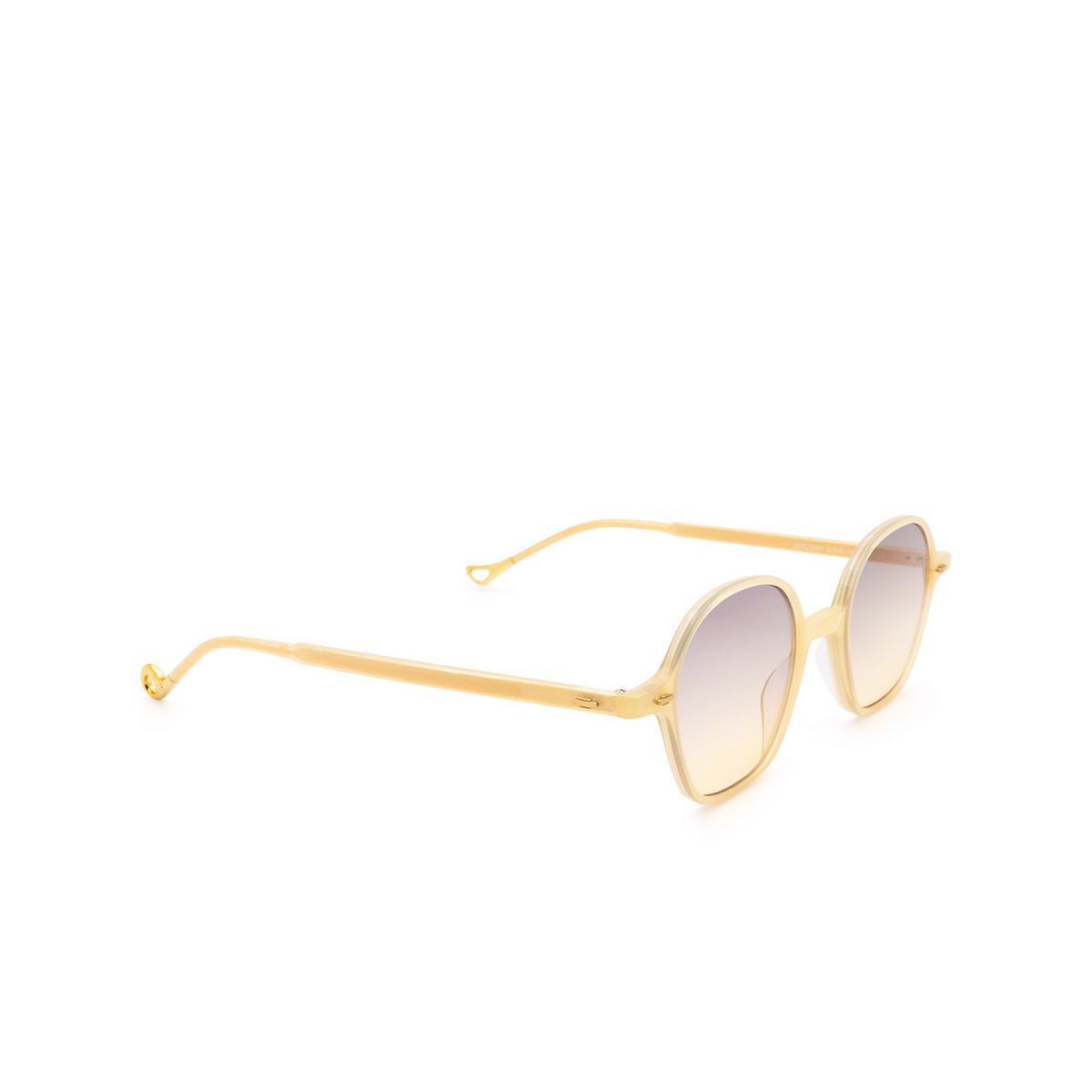 Eyepetizer® Irregular Sunglasses: Visconti color Honey C.C/C-19 - three-quarters view.
