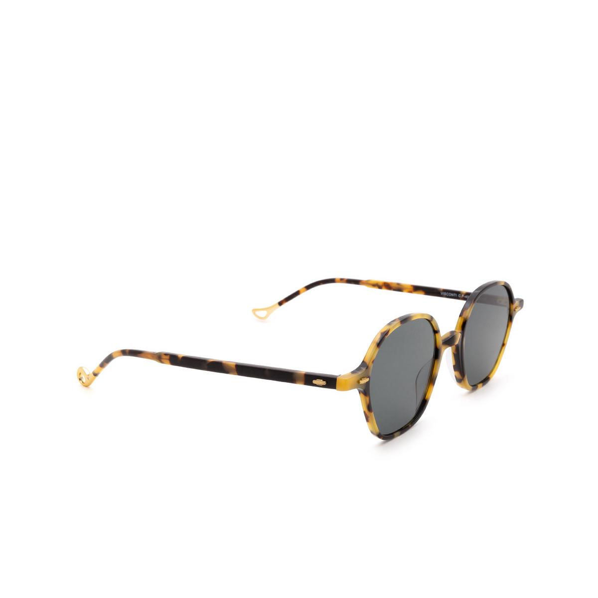 Eyepetizer® Irregular Sunglasses: Visconti color Havana C.F-40 - three-quarters view.