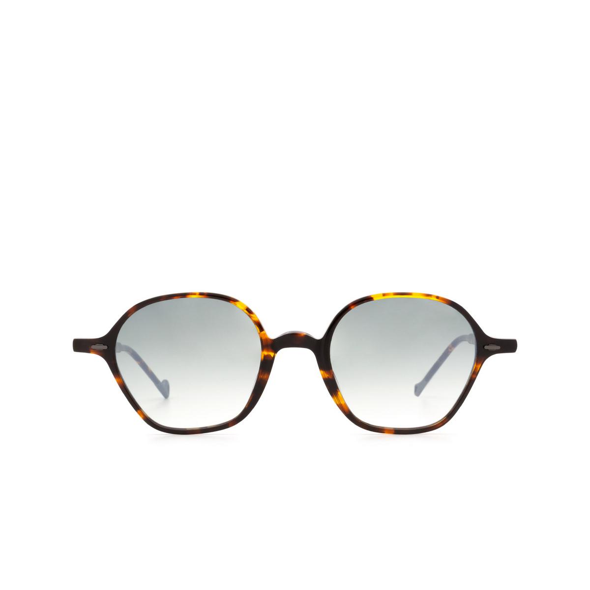 Eyepetizer® Irregular Sunglasses: Visconti color Dark Havana C.I-25F - front view.