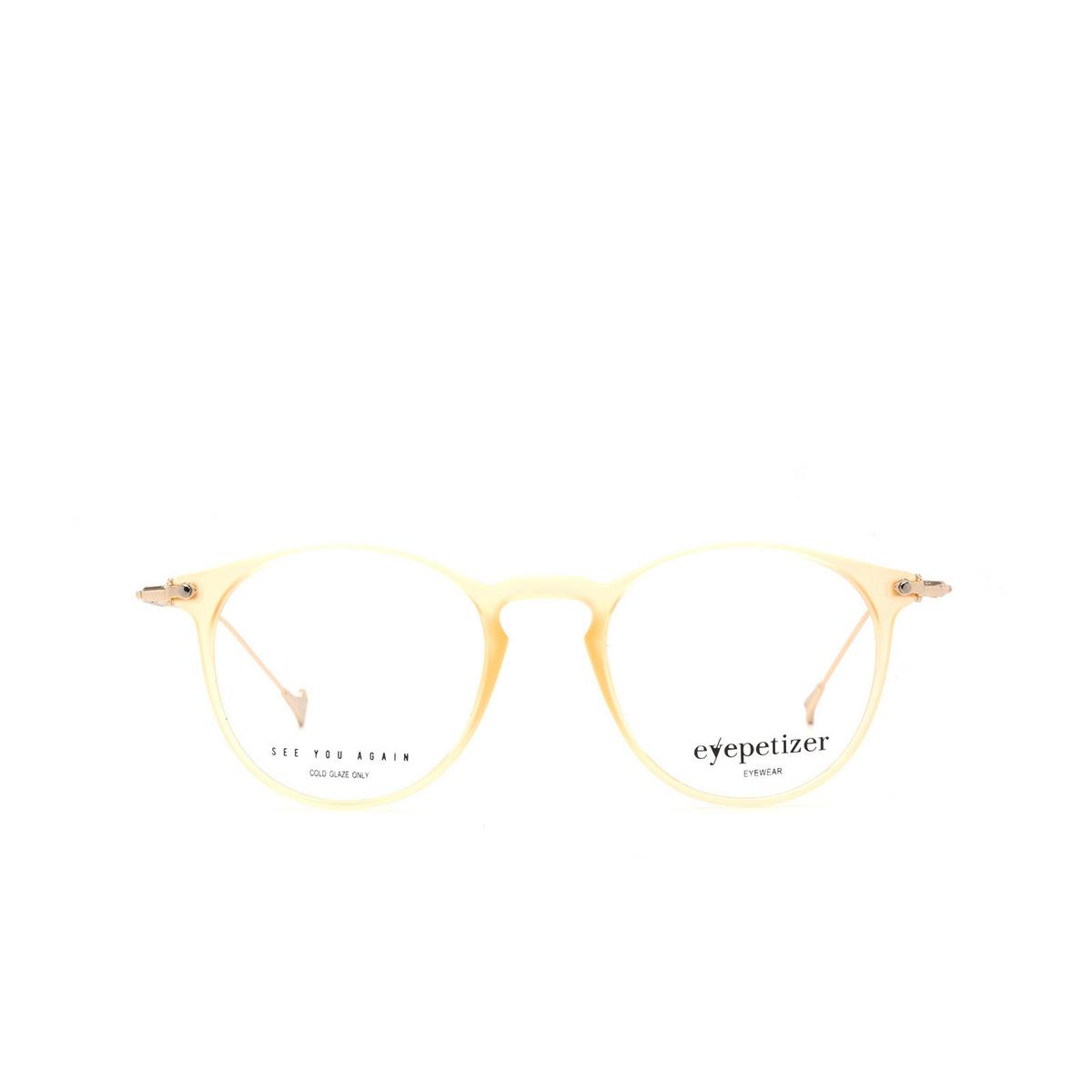 Eyepetizer® Round Eyeglasses: Wilson Optical color Matte Honey C B-4.