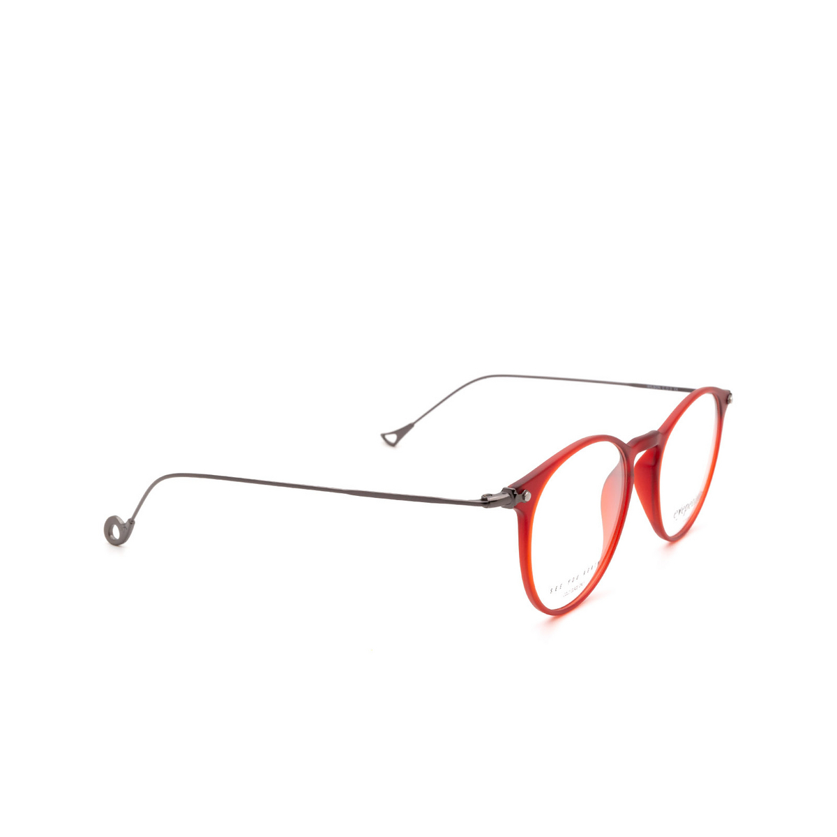 Eyepetizer® Round Eyeglasses: Wilson Optical color Matte Red C.O-3.