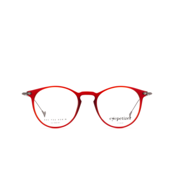 Eyepetizer® Round Eyeglasses: Wilson Optical color Matte Red C.O-3.