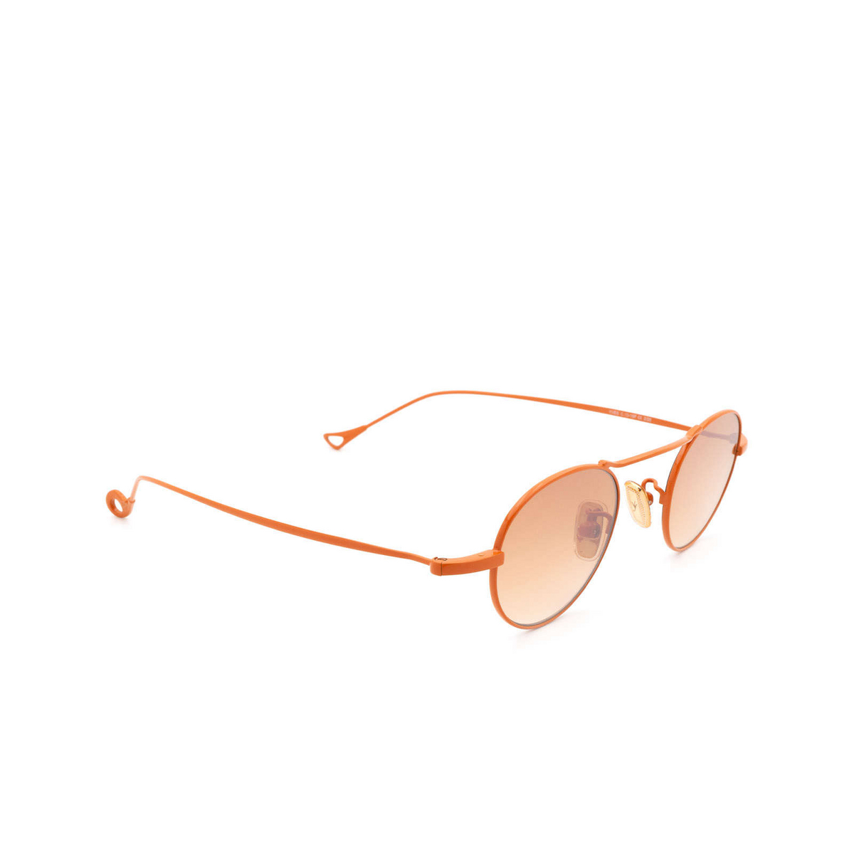 Eyepetizer® Round Sunglasses: Yves color Orange C.13-15F - three-quarters view.