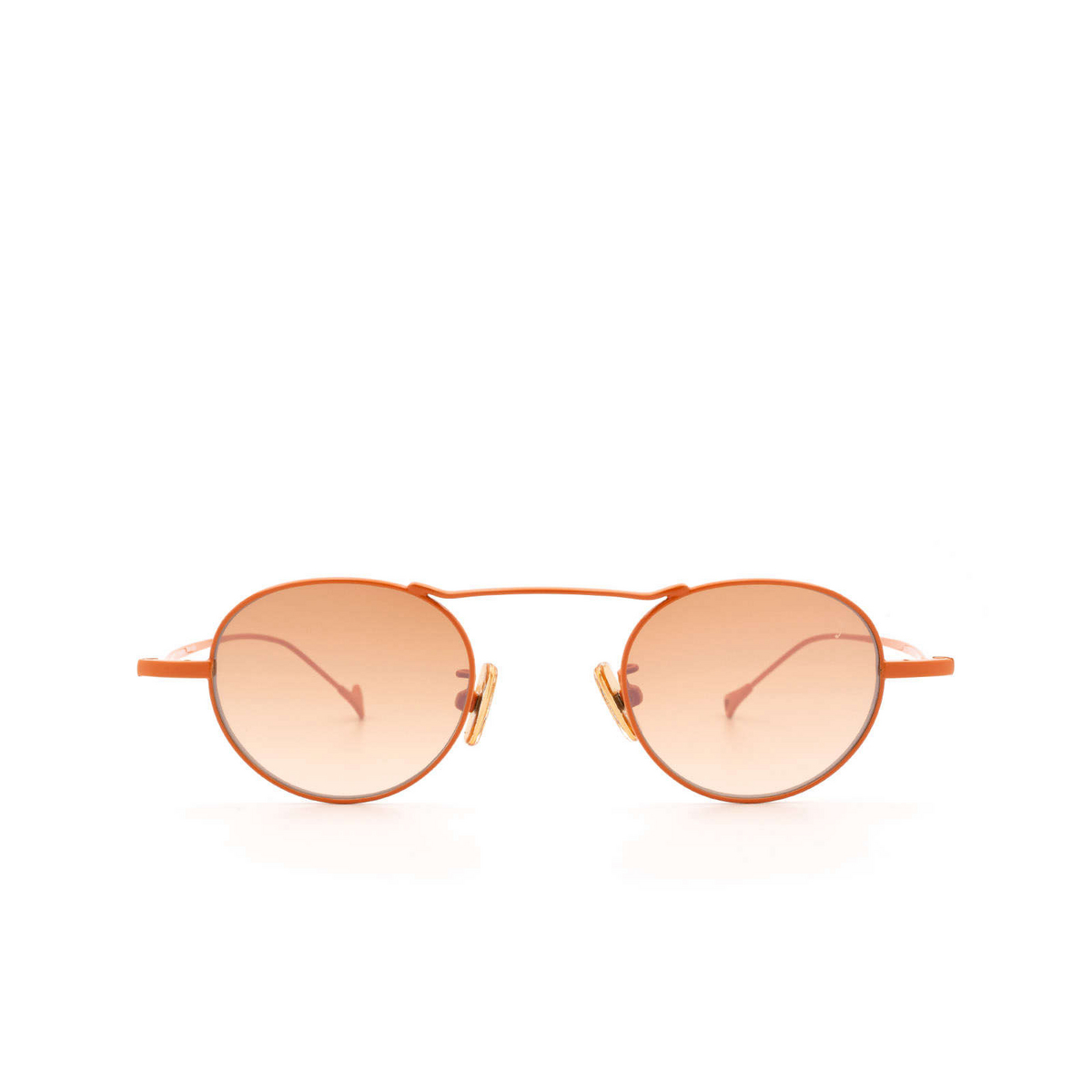 Eyepetizer® Round Sunglasses: Yves color Orange C.13-15F - front view.