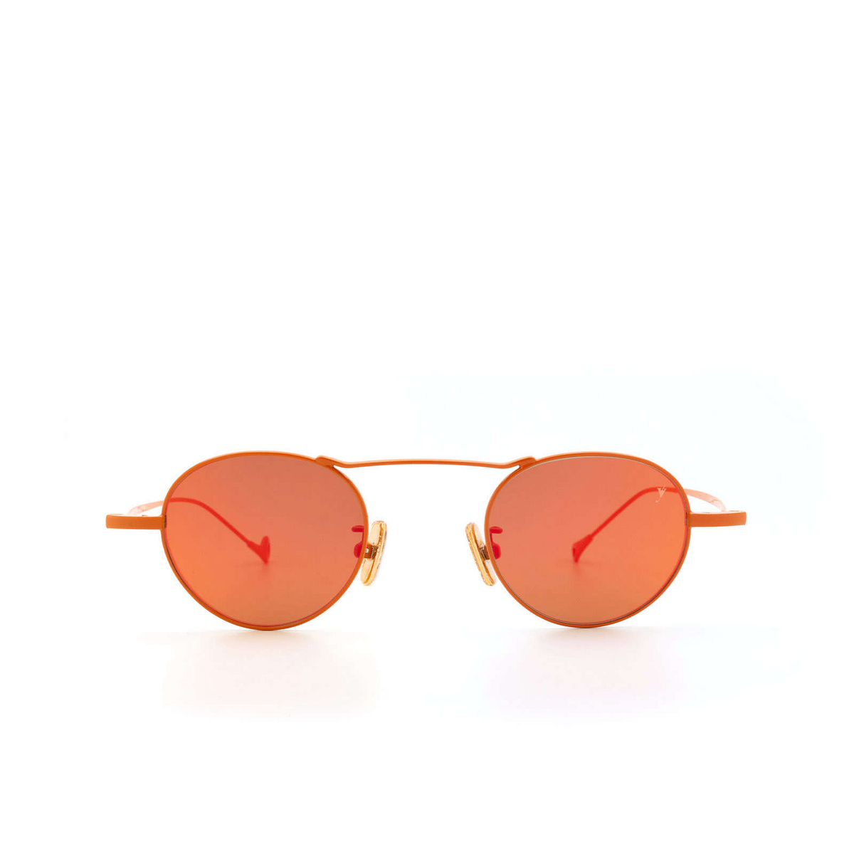 Eyepetizer® Round Sunglasses: Yves color Orange C.13-37 - front view.