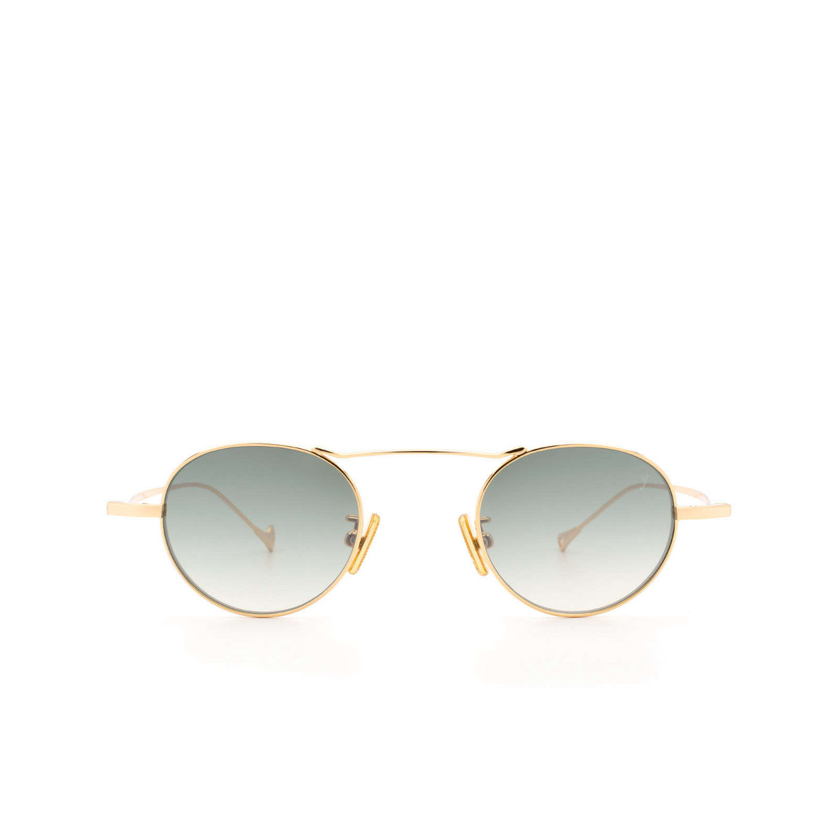 Eyepetizer® Round Sunglasses: Yves color Gold C.4-25F - front view.