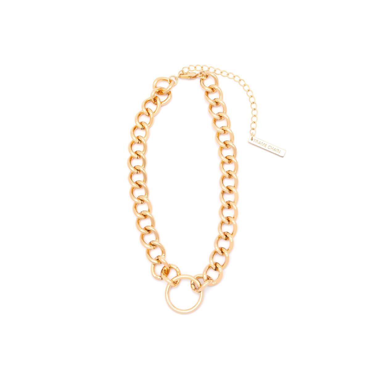 Frame Chain HOOKER DIAMOND YELLOW GOLD  (1)