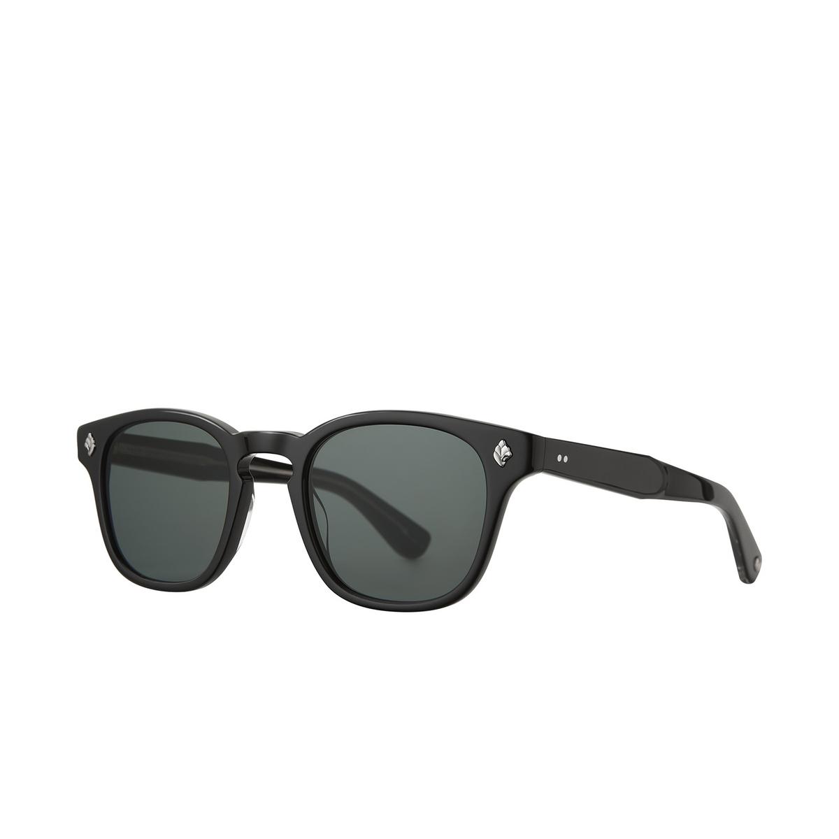 Garrett Leight® Square Sunglasses: Ace Sun color Black Bk/sfbs.