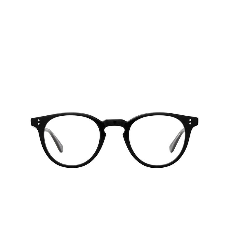 Garrett Leight® Round Eyeglasses: Clement color Black Bk.