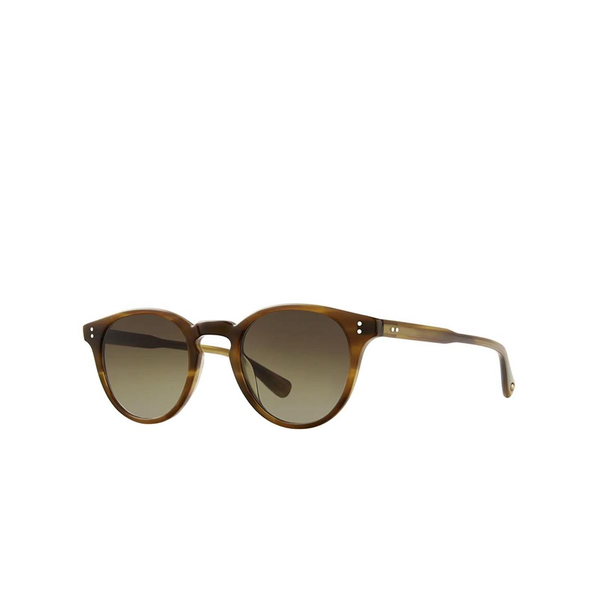 Garrett Leight® Square Sunglasses: Clement Sun color Saddle Tortoise Sdt-pog.
