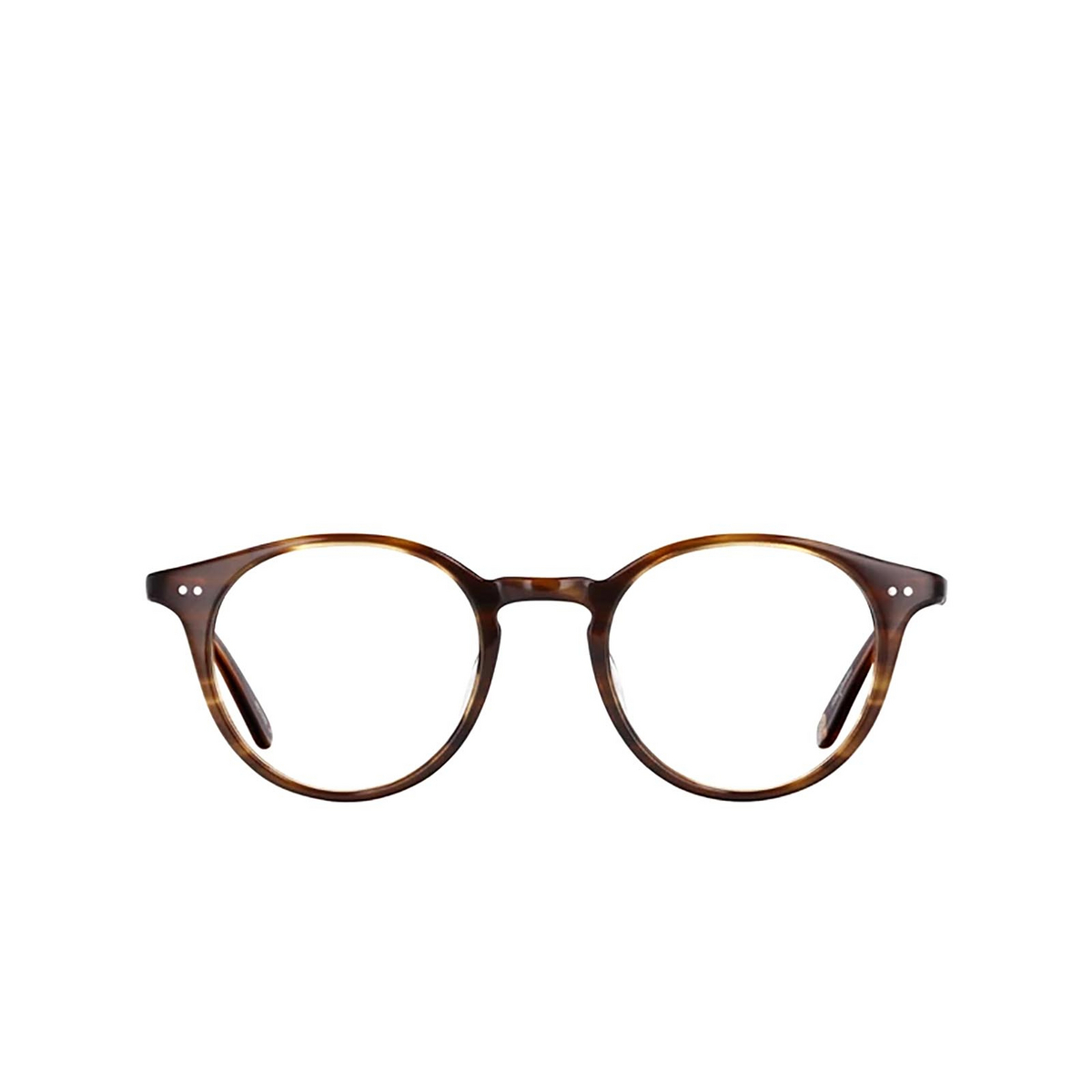 Garrett Leight® Round Eyeglasses: Clune color Brandy Tortoise Brt - front view.