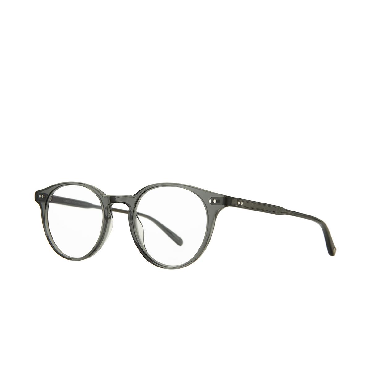 Garrett Leight® Round Eyeglasses: Clune color Sea Grey Sgy - three-quarters view.