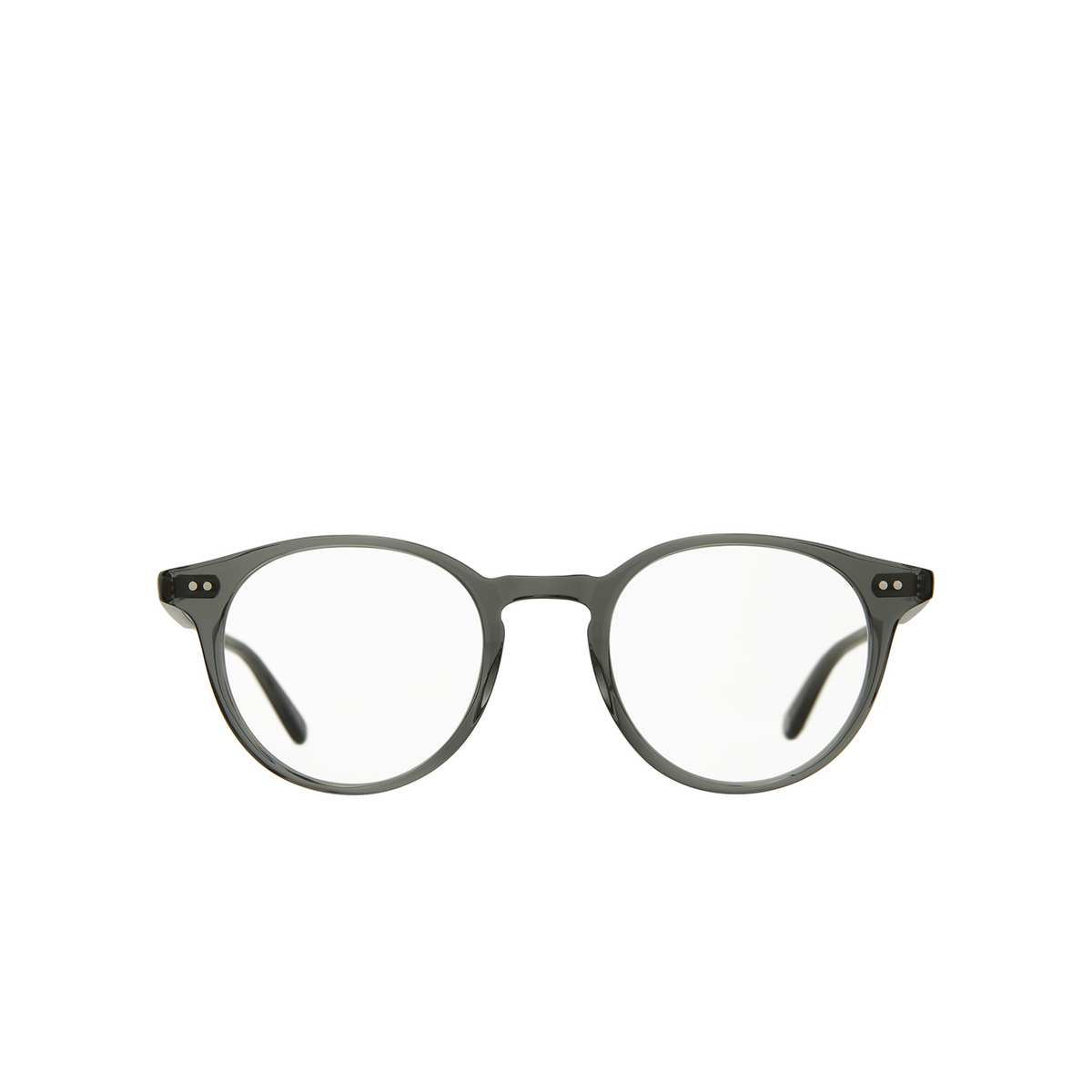 Garrett Leight® Round Eyeglasses: Clune color Sea Grey Sgy - front view.