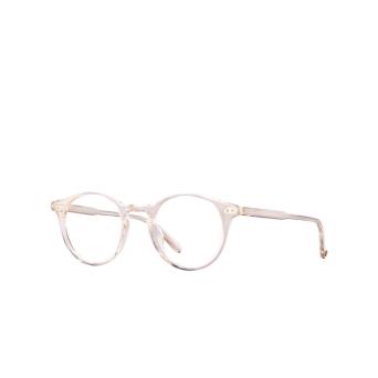 Garrett Leight® Round Eyeglasses: Clune color Shell Crystal Shgr.