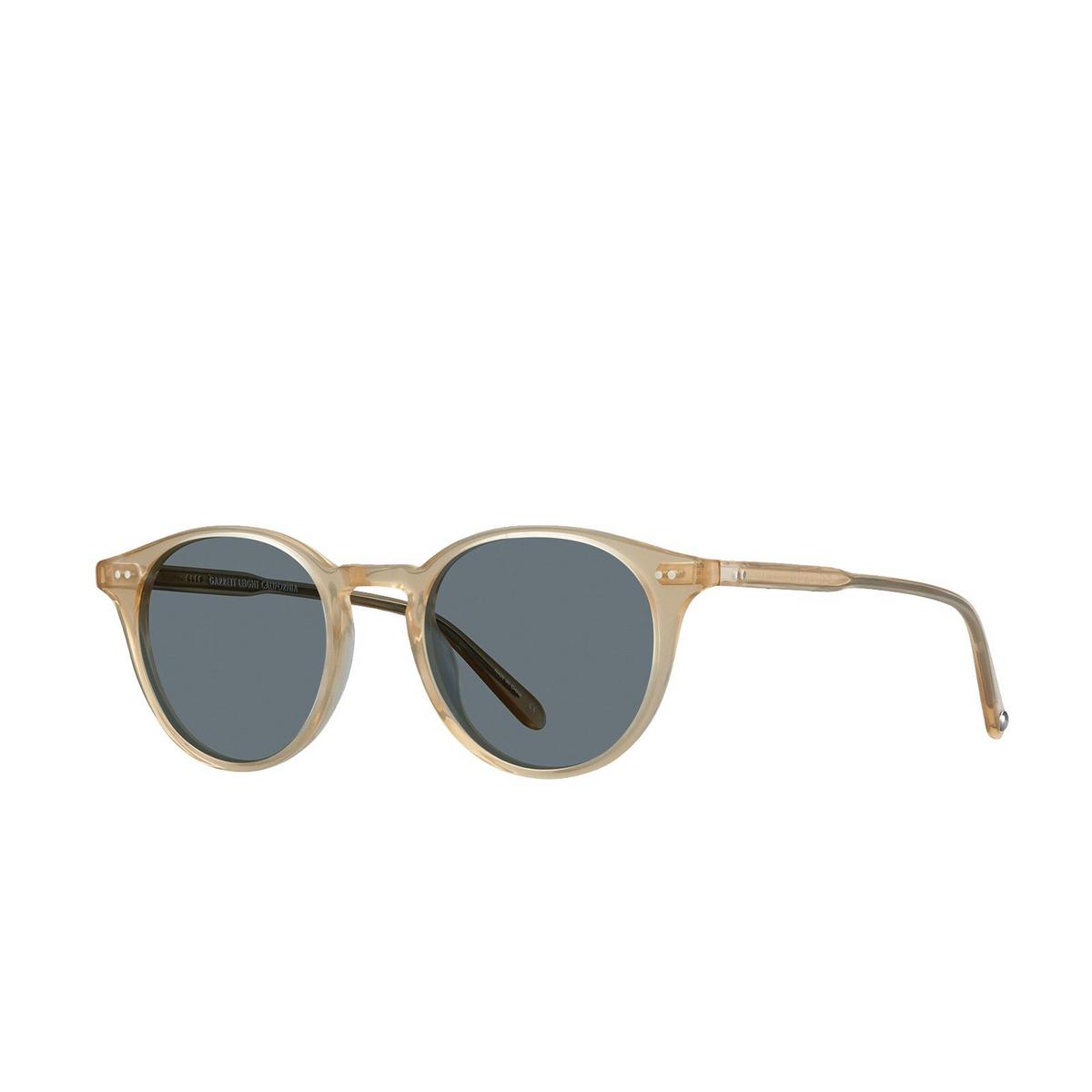 Garrett Leight® Round Sunglasses: Clune Sun color Blonde B-sfbs - 2/2.