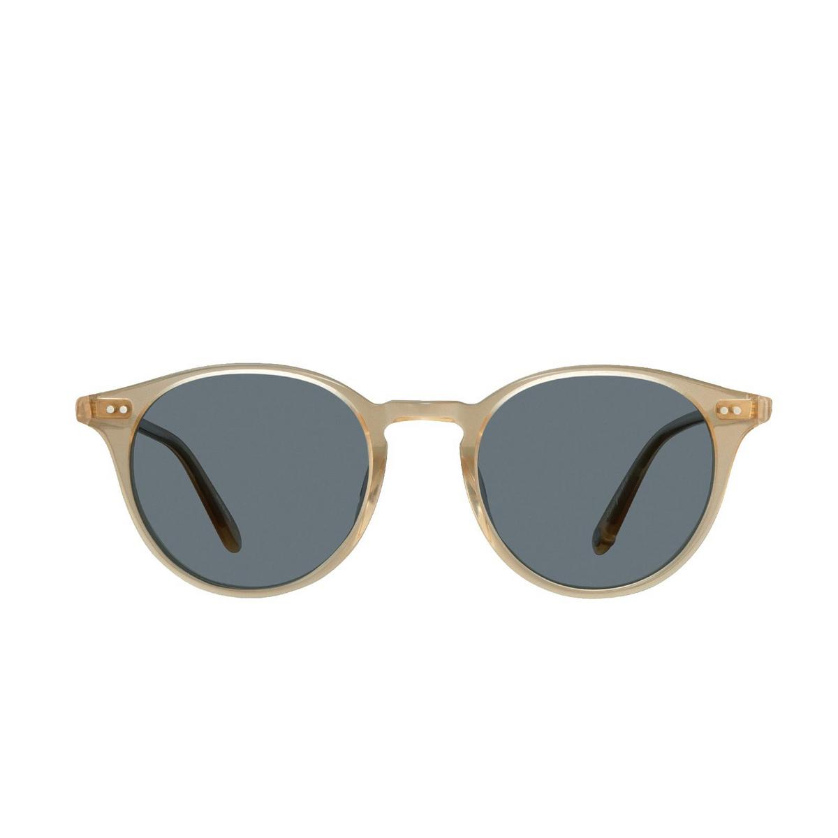 Garrett Leight® Round Sunglasses: Clune Sun color Blonde B-sfbs - 1/2.