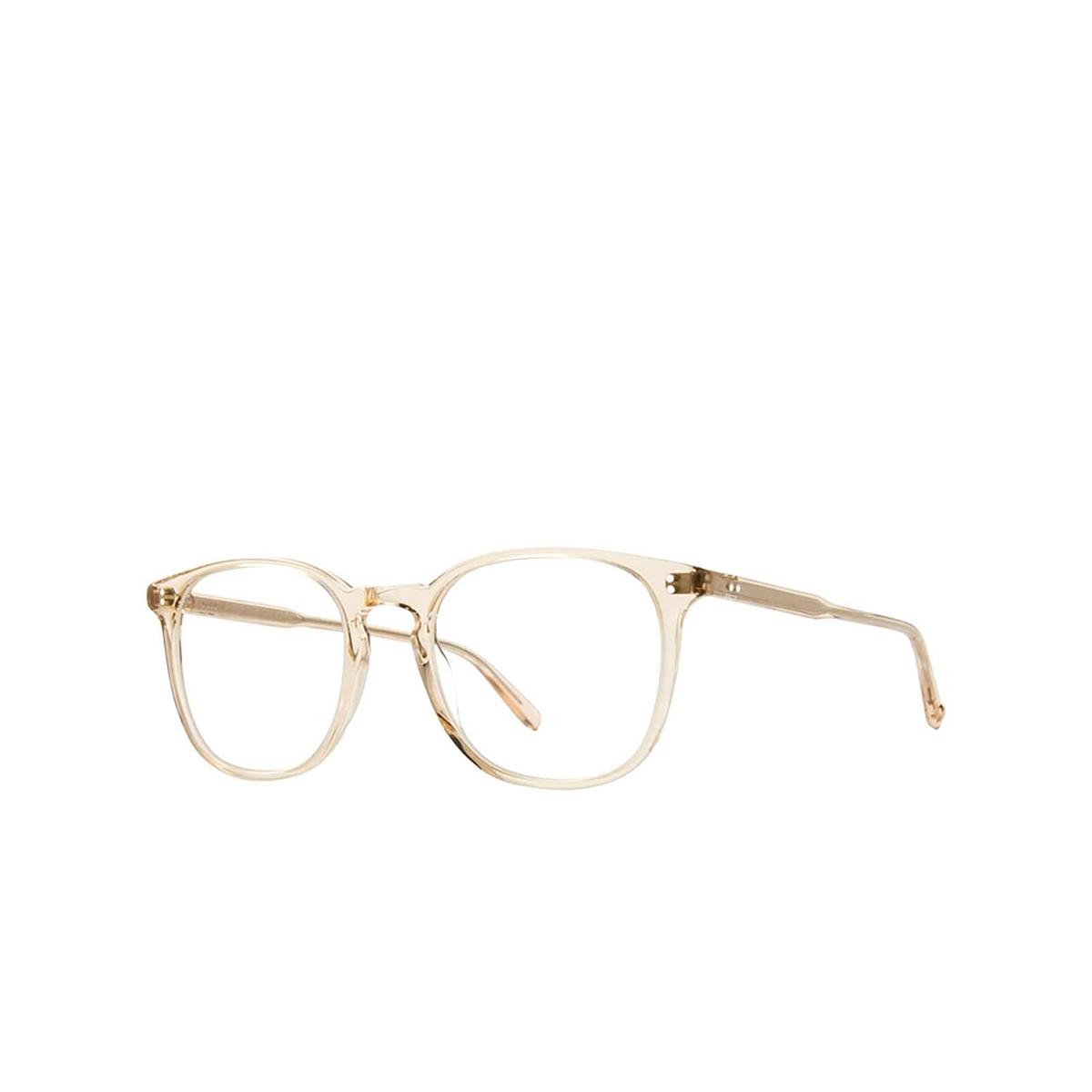 Garrett Leight® Square Eyeglasses: Doreen color Shell Crystal Shcr - three-quarters view.