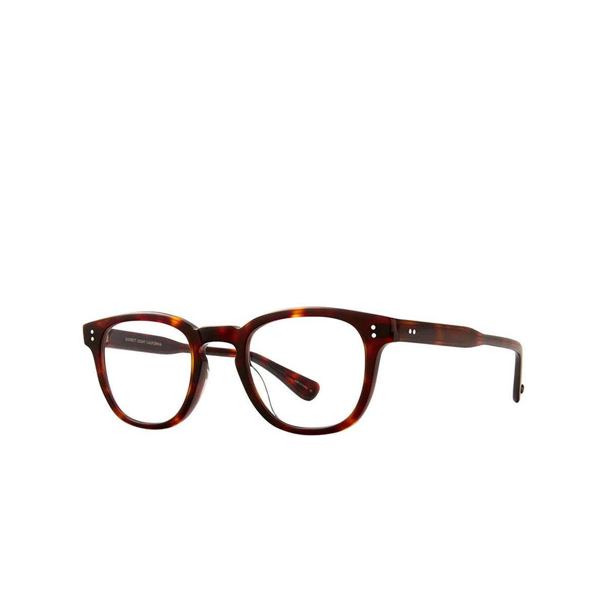 Garrett Leight® Square Eyeglasses: Douglas color 1965 Tortoise 1965TO - three-quarters view.
