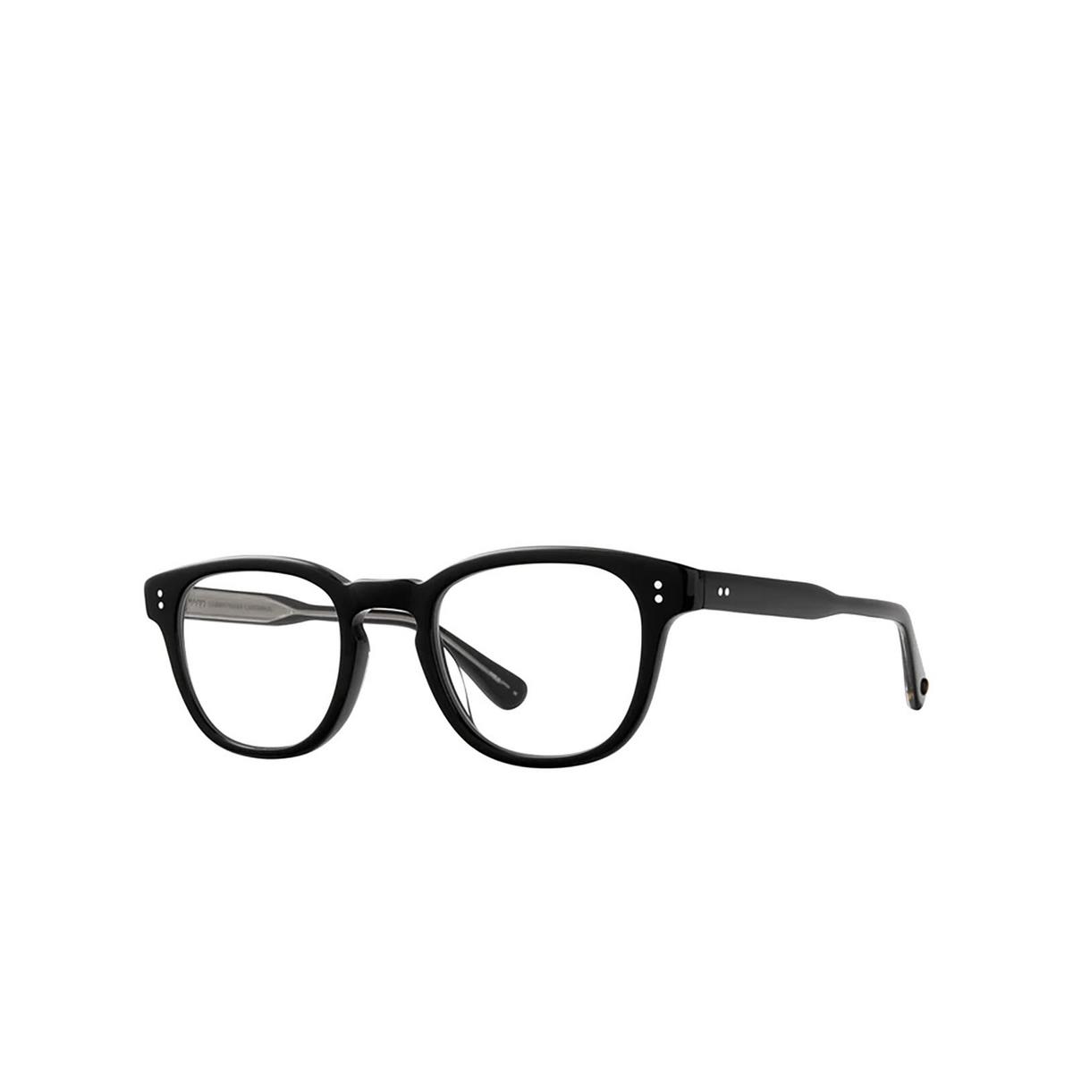 Garrett Leight® Square Eyeglasses: Douglas color Black Bk - three-quarters view.