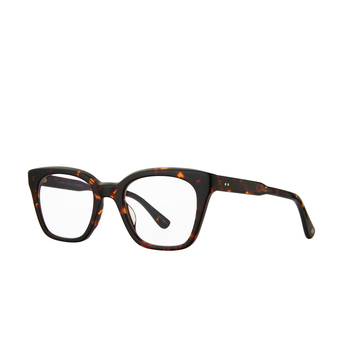 Garrett Leight® Cat-eye Eyeglasses: El Rey color Caviar Tortoise Cavt.