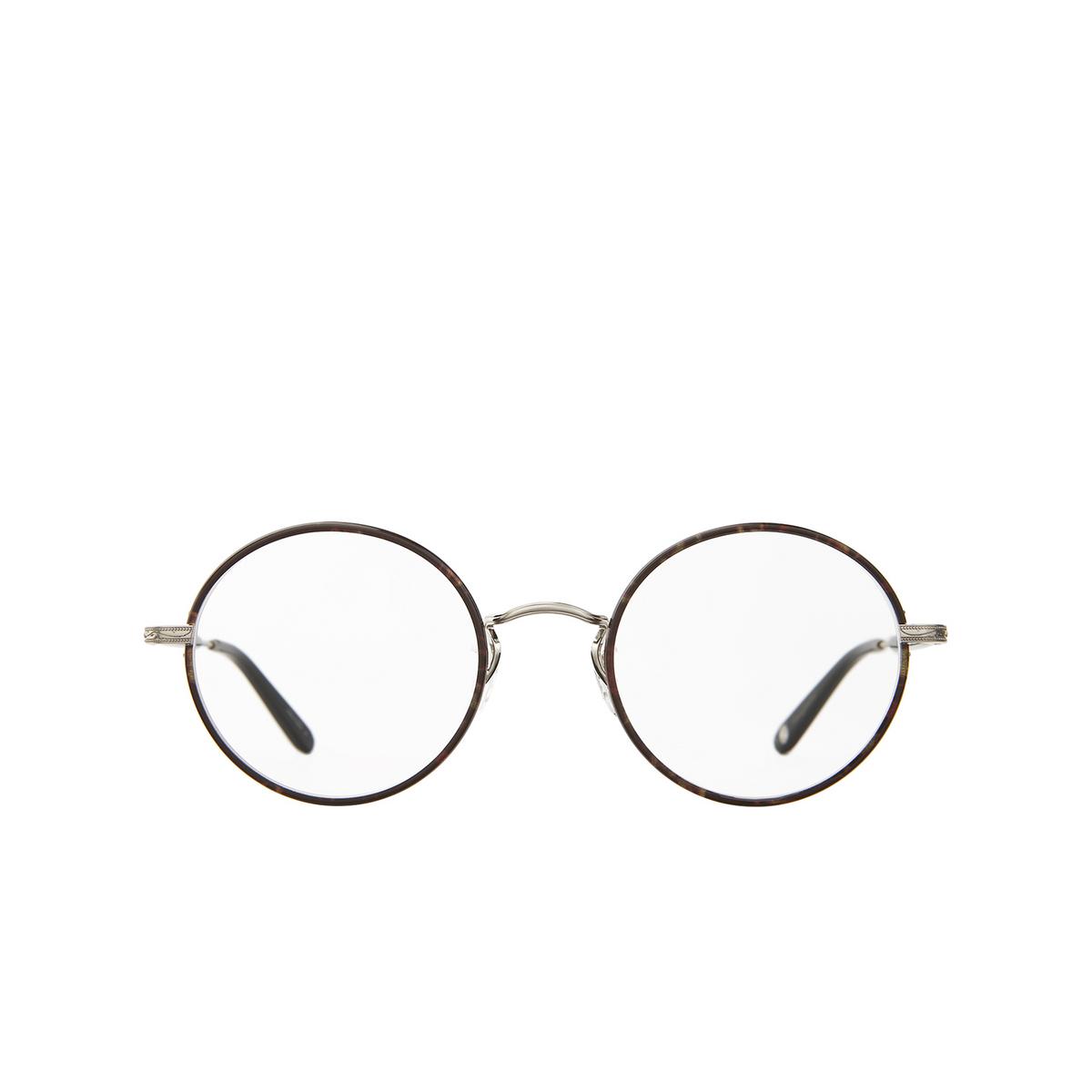 Garrett Leight® Round Eyeglasses: Fonda color Bourbon Tortoise - Brushed Silver Bbt-bs-bk.