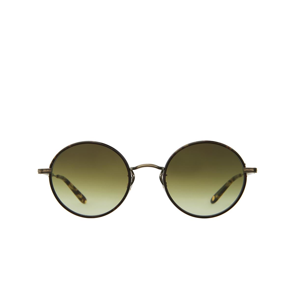Garrett Leight® Round Sunglasses: Fonda Sun color Bourbon - Brushed Gold Bbt-bg-yt/og.