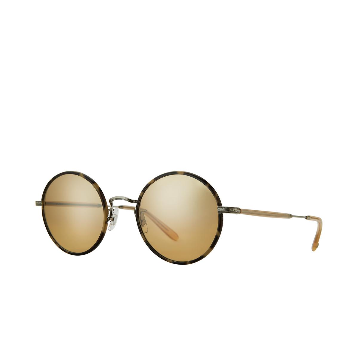 Garrett Leight® Round Sunglasses: Fonda Sun color Marzipan - Brushed Silver Mar-bs-b/hm.