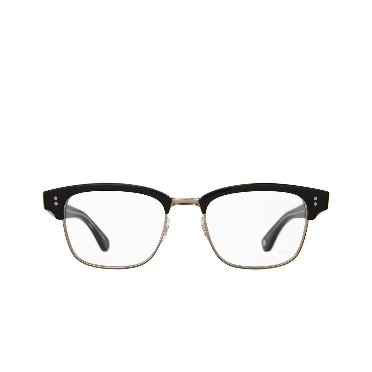Garrett Leight® Square Eyeglasses: Gibson color Black - Gold Bk-g.