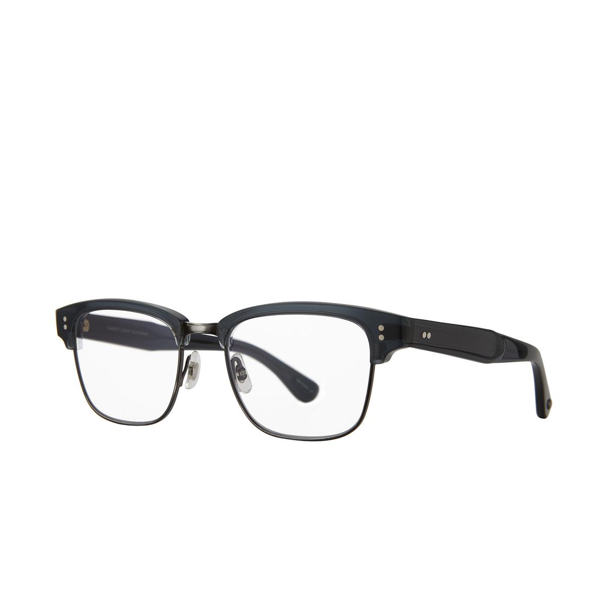 Garrett Leight® Square Eyeglasses: Gibson color Navy - Pewter Nvy-pw.