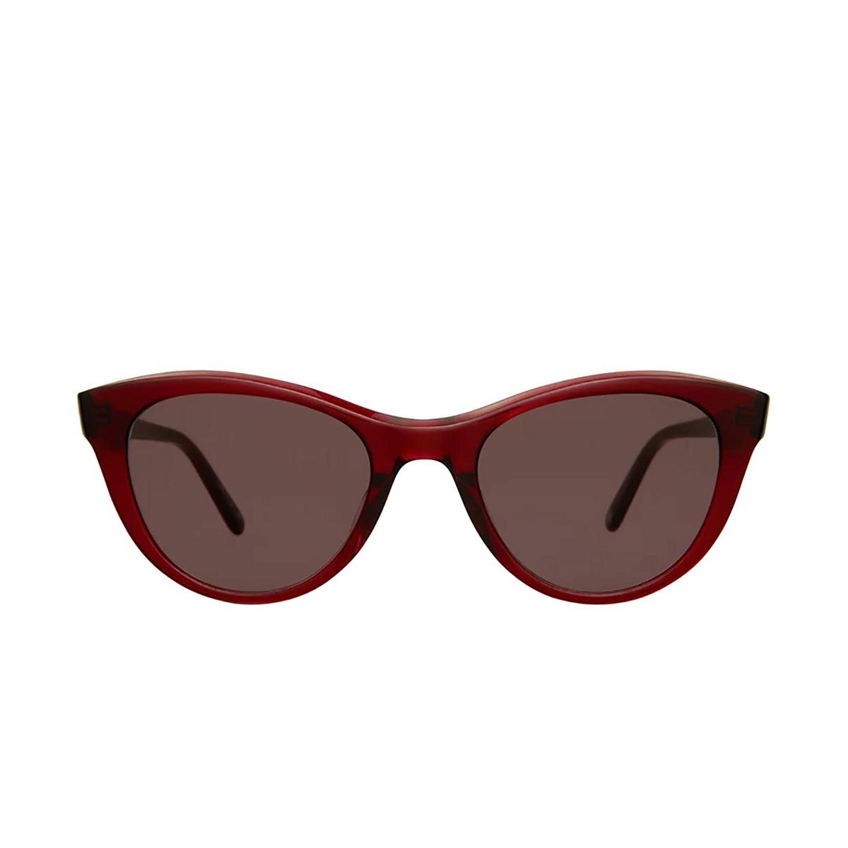 Garrett Leight® Cat-eye Sunglasses: Glco X Clare V. Sun color Merlot Mer.