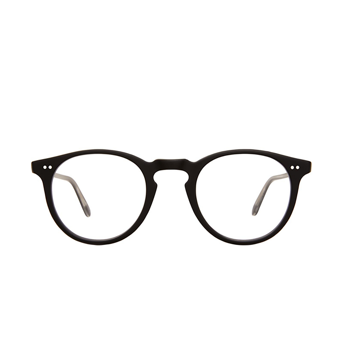 Garrett Leight® Round Eyeglasses: Glencoe color Matte Black Mbk - front view.