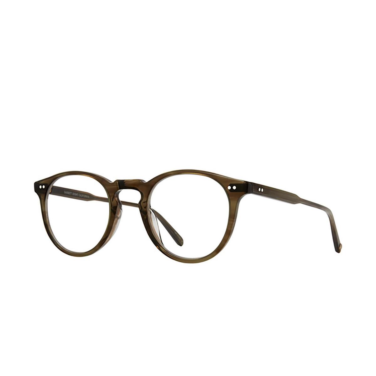 Garrett Leight® Round Eyeglasses: Glencoe color Olive Tortoise Ot - three-quarters view.