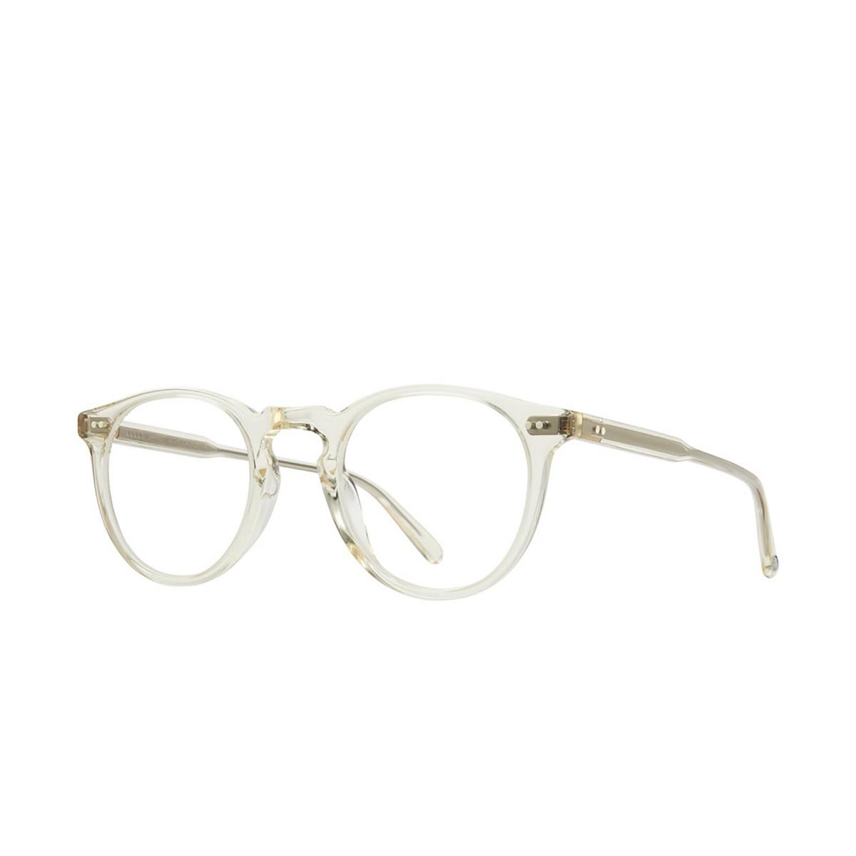 Garrett Leight® Round Eyeglasses: Glencoe color Pure Glass Pg.
