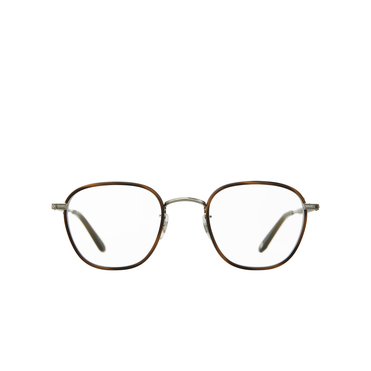 Garrett Leight® Square Eyeglasses: Grant color Demi Blonde - Silver Db-bs-olv.