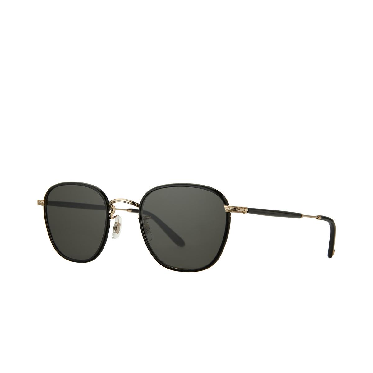 Garrett Leight® Square Sunglasses: Grant Sun color Black - Black Bk-g-bk/sfpgy - 2/2.