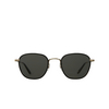 Garrett Leight® Square Sunglasses: Grant Sun color Black - Black Bk-g-bk/sfpgy - product thumbnail 1/2.
