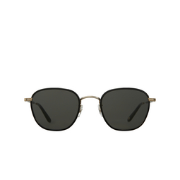 Garrett Leight® Square Sunglasses: Grant Sun color Black - Black Bk-g-bk/sfpgy.