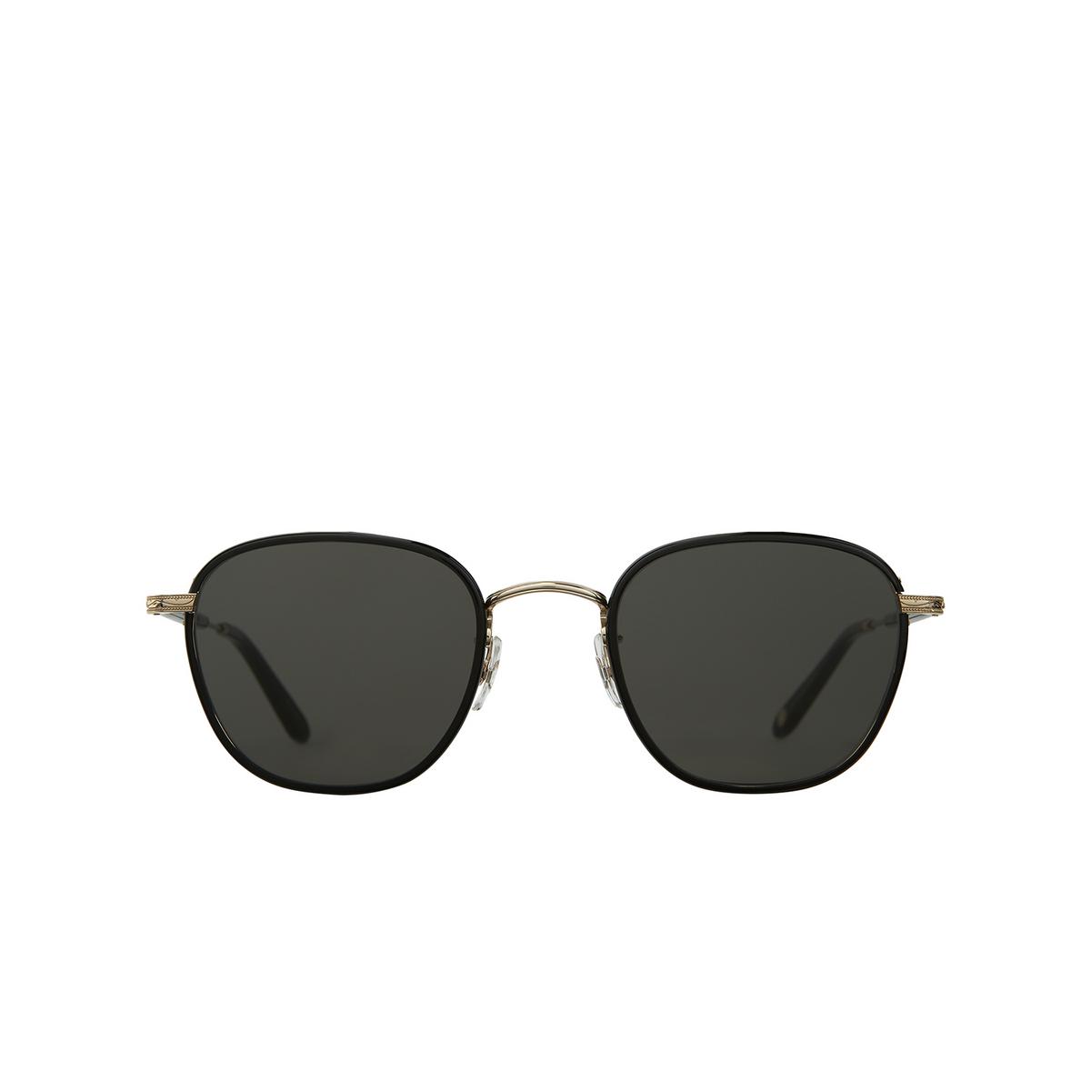 Garrett Leight® Square Sunglasses: Grant Sun color Black - Black Bk-g-bk/sfpgy - 1/2.