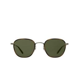Garrett Leight® Square Sunglasses: Grant Sun color Demi Blonde - Silver Db-bs-td/sfpgn.