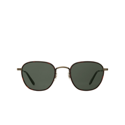 Garrett Leight® Square Sunglasses: Grant Sun color Matte Kona Tortoise - Antique Gold MKONT-ATGII-MRT/SFPG15.